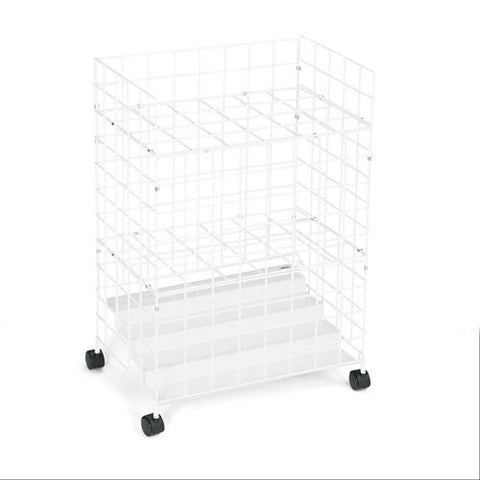 Safco 24 Compartments Wire Storage File SAF3088, White (UPC:073555308808)