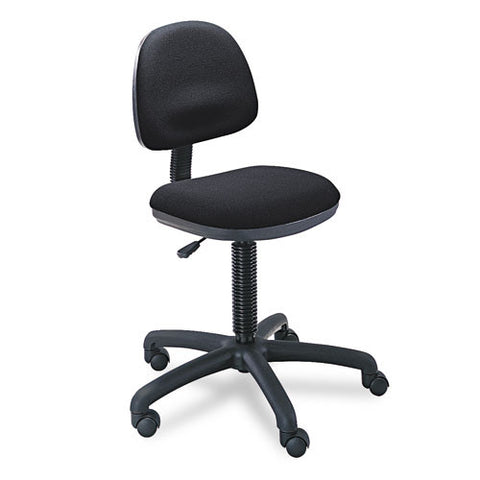Safco 3380BL Precision Armless Task Chair SAF3380BL, Black (UPC:073555338027)