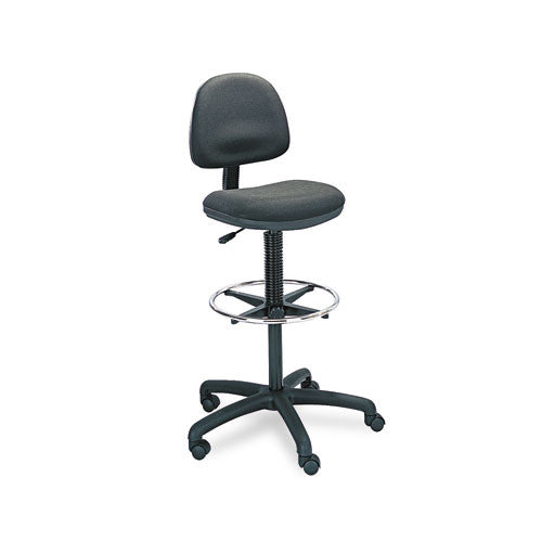 Safco Precision Extended Height Chair with Footring SAF3401BL, Black (UPC:073555340129)