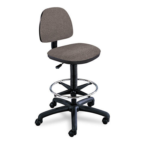 Safco Precision Extended Height Chair with Footring SAF3401DG, Gray (UPC:073555340105)