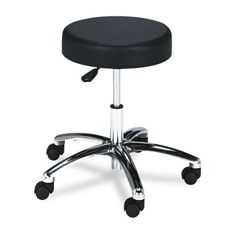 Safco 3431BL Pneumatic Lab Stool without Back SAF3431BL, Black (UPC:073555343120)