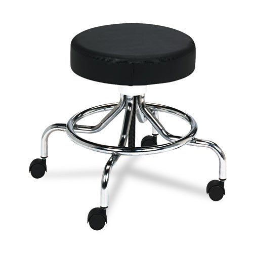 Safco Screw Lift Lab Stool with Low Base SAF3432BL, Black (UPC:073555343229)