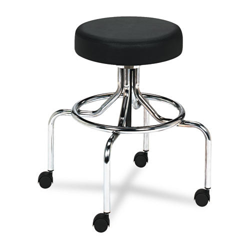 Safco Screw Lift Lab Stool With High Base SAF3433BL, Black (UPC:073555343328)