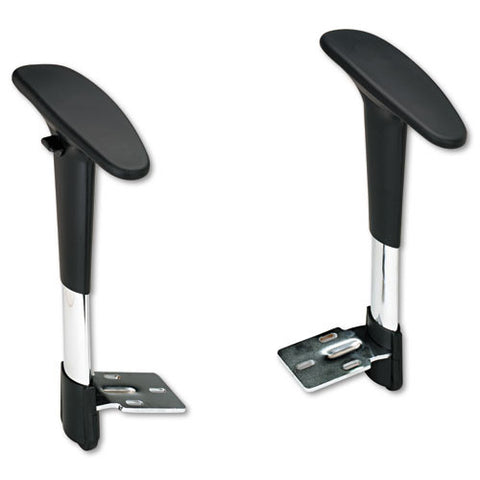 Safco Metro Extended Chairs Adjustable Arm Kit SAF3495BL, Black (UPC:073555349528)