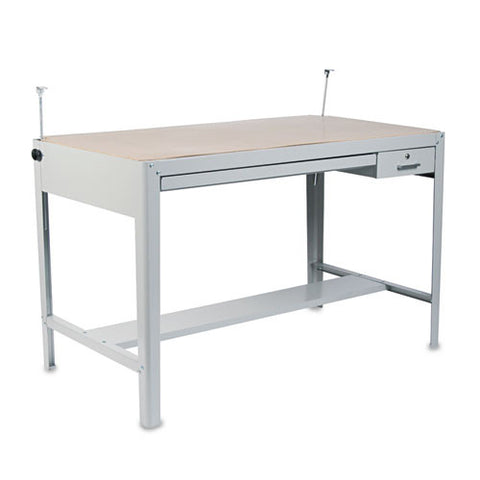 Safco Precision Drafting Table Base SAF3962GR, Gray (UPC:073555396232)