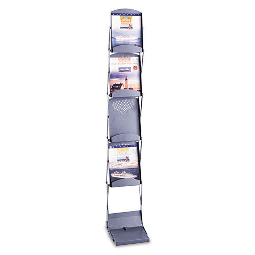 Safco Double Sided Folding Literature Display SAF4132GR, Gray (UPC:073555413236)