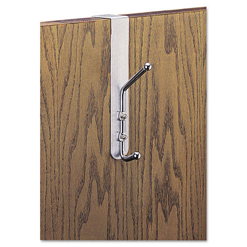 Safco 4166 Over-The-Door Coat Hook ; (073555416602); Color:Silver