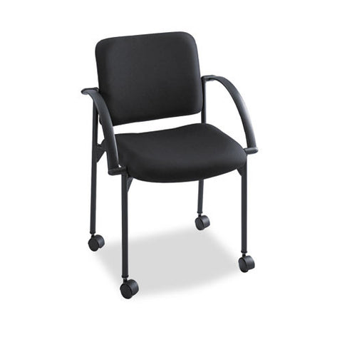 Safco Moto Stack Chair SAF4184BL, Black (UPC:073555418422)