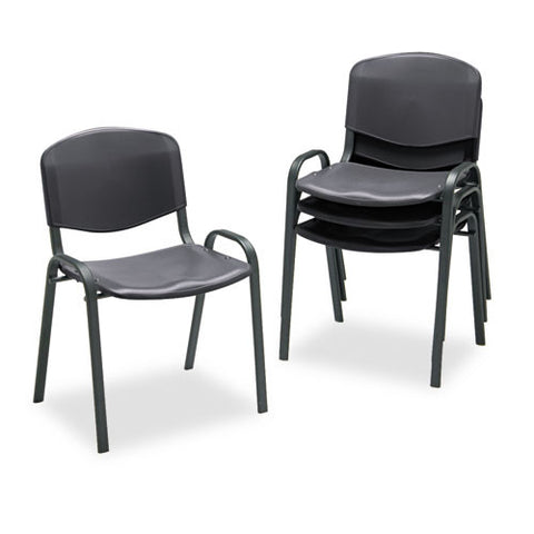 Safco Contour Stack Chairs SAF4185BL, Black (UPC:073555418521)