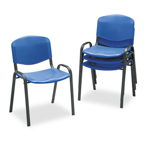 Safco Contour Stack Chairs SAF4185BU, Blue (UPC:073555418538)