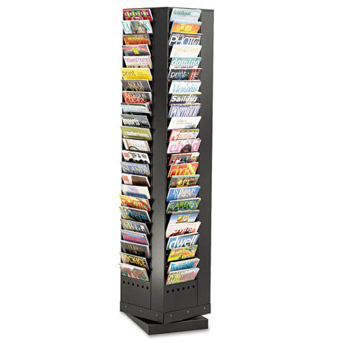 Safco Rotary Display Rack SAF4325BL, Black (UPC:073555432527)