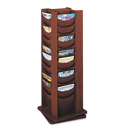 Safco Rotating Wood Display SAF4335MH, Mahogany (UPC:073555433524)