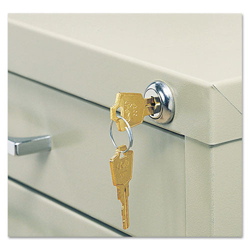 Safco 5-Drawer Flat File Lock Kit SAF4981, Silver (UPC:073555498103)