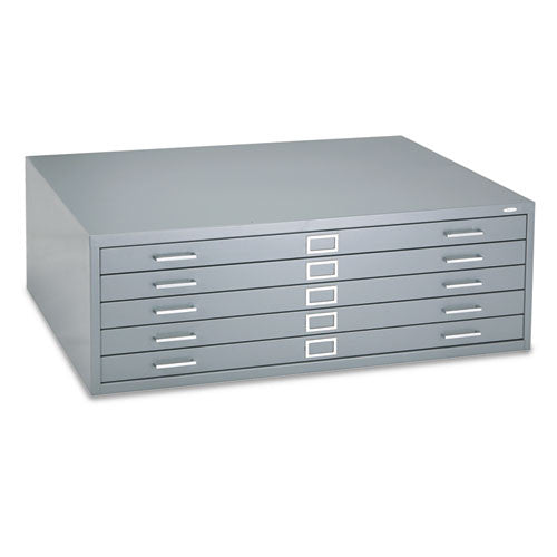 Safco 5 Drawers Steel Flat File & Base SAF4996GRR, Gray (UPC:073555499636)