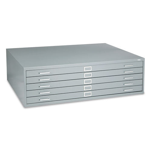 Safco 5-Drawer Steel Flat File SAF4998GRR, Gray (UPC:073555499834)