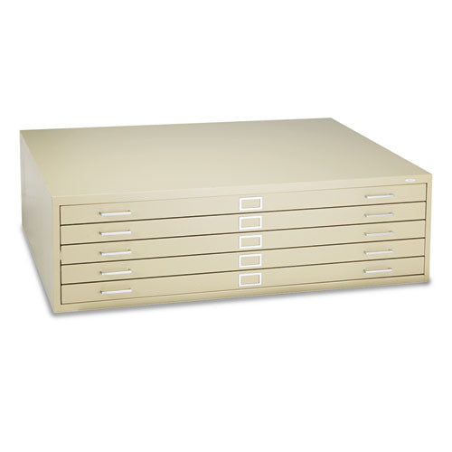Safco 5-Drawer Steel Flat File SAF4998TSR,  (UPC:073555499865)