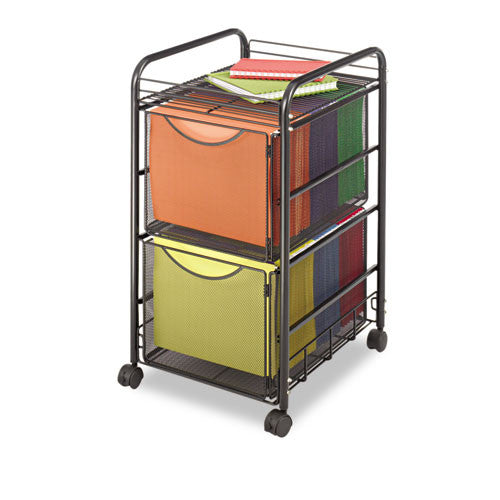 Safco Onyx Double Mesh Mobile File Cart SAF5212BL, Black (UPC:073555521221)