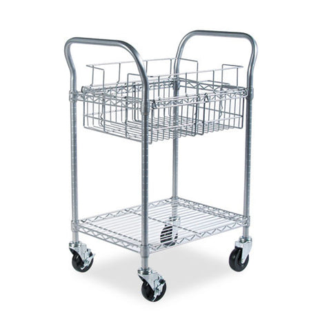 Safco Wire Mail Cart SAF5235GR, Gray (UPC:073555523539)