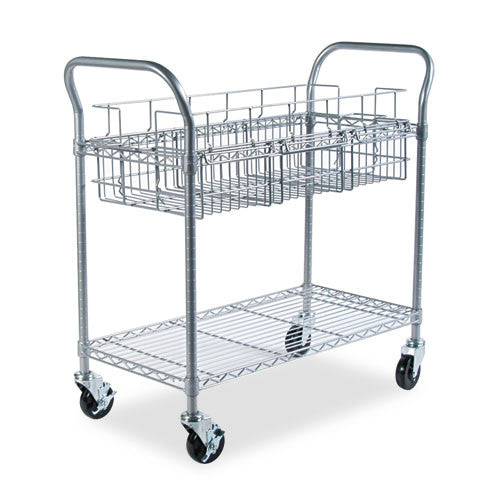 Safco Wire Mail Cart SAF5236GR, Gray (UPC:073555523638)