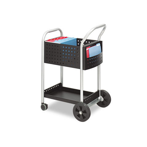 Safco Scoot Mail Cart SAF5238BL, Black (UPC:073555523829)