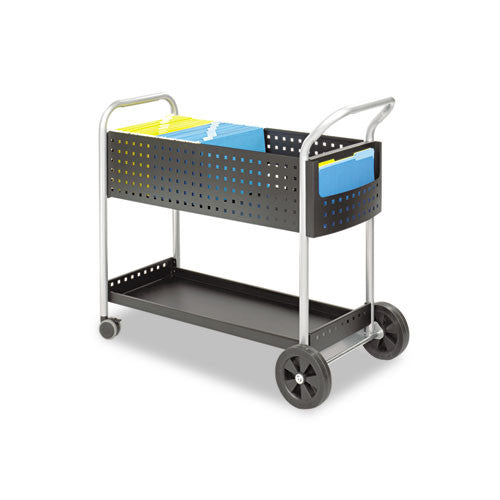 Safco Scoot Mail Cart SAF5239BL, Black (UPC:073555523928)