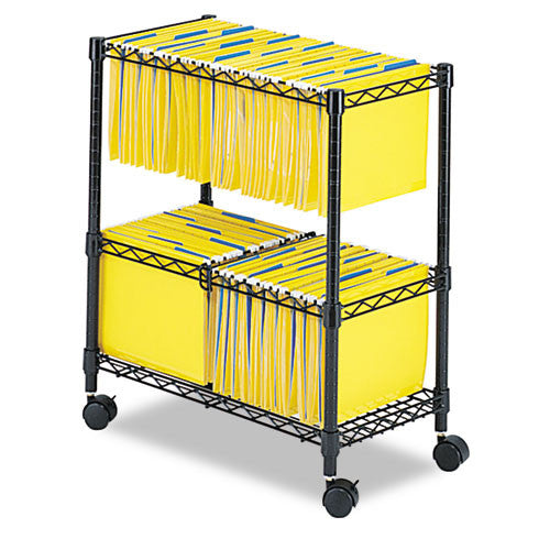 Safco 2-Tier Rolling File Cart SAF5278BL, Black (UPC:073555527827)