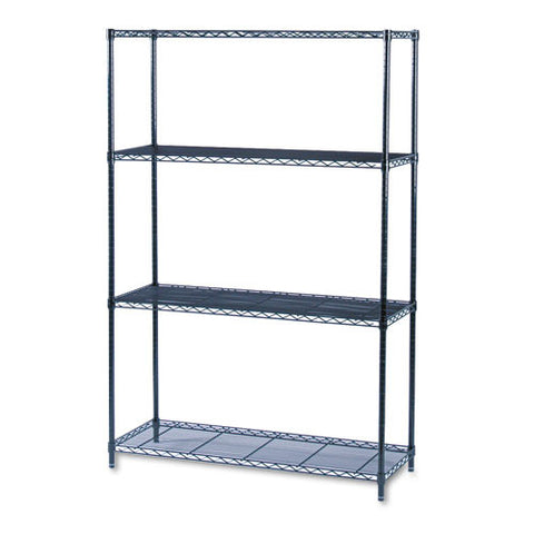 Safco Industrial Wire Shelving SAF5291BL, Black (UPC:073555529128)