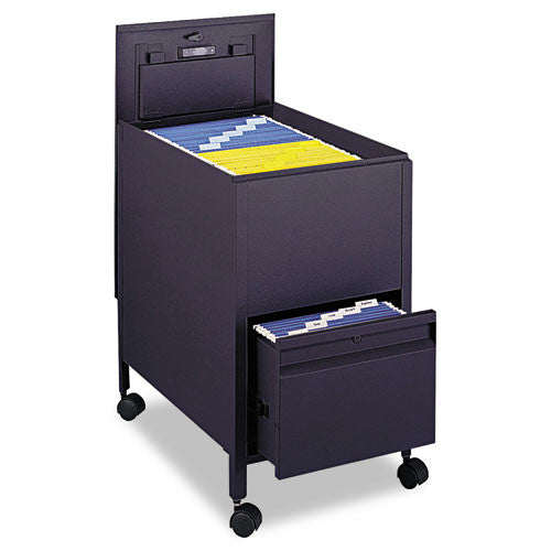 Safco Rollaway Mobile File Cart SAF5364BL, Black (UPC:073555536423)