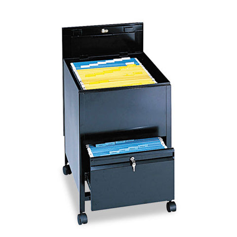 Safco Rollaway Mobile File Cart SAF5365BL, Black (UPC:073555536522)
