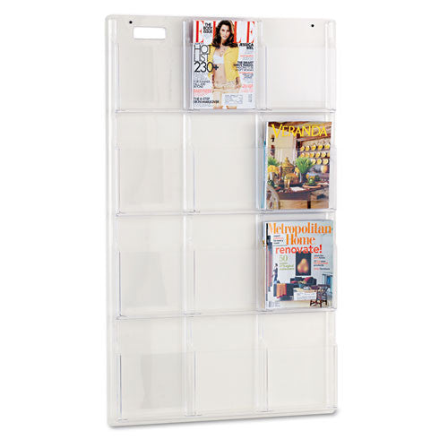 Safco 12 Pocket Magazine Display Rack SAF5602CL, Clear (UPC:073555560206)