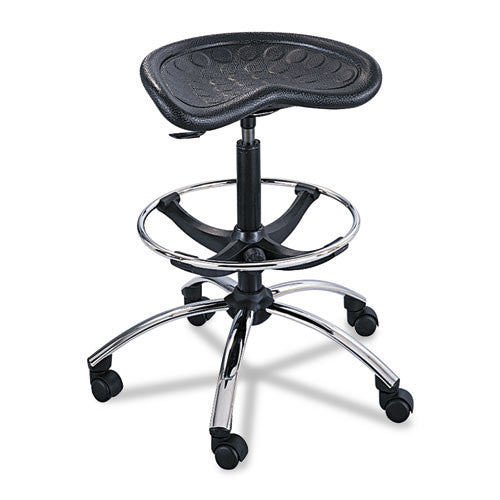Safco Height Adjustable Stool SAF6660BL, Black (UPC:073555666021)