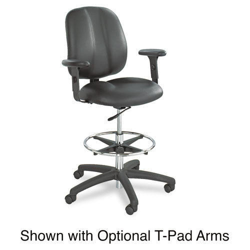 Safco Apprentice II Extended Height Armless Drafting Chair SAF7084BL, Black (UPC:073555708424)