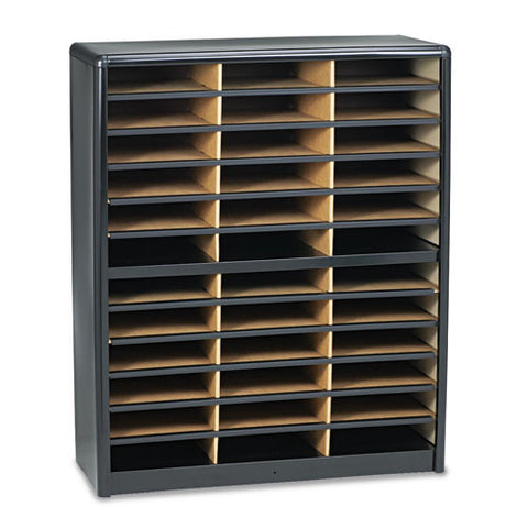 Safco 36 Compartments Value Sorter Literature Sorter SAF7121BL, Black (UPC:073555712124)