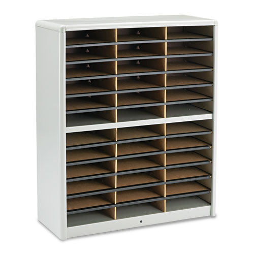 Safco 36 Compartments Value Sorter Literature Sorter SAF7121GR, Gray (UPC:073555712131)