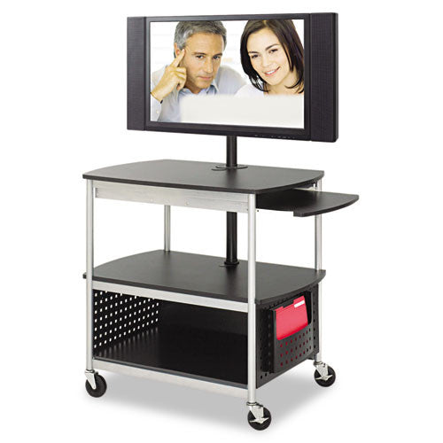 Safco Scoot Open Flat Panel Multimedia Display Cart SAF8940BL, Black (UPC:073555894028)