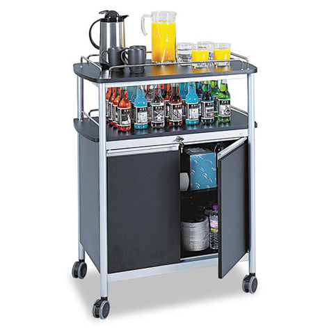 Safco Mobile Beverage Cart SAF8964BL, Chrome (UPC:073555896428)