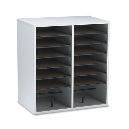 Safco 16 Compartments Adjustable Shelves Literature Organizer SAF9422GR, Gray (UPC:073555942231)