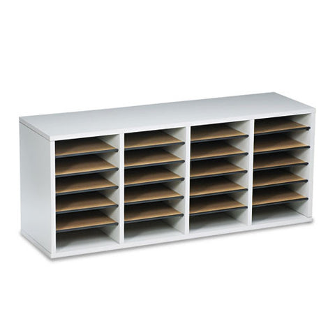 Safco 24 Compartment Adjustable Shelves Literature Organizer SAF9423GR, Gray (UPC:073555942330)