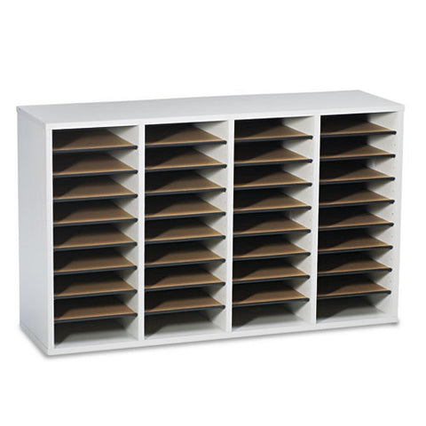 Safco 36 Compartment Adjustable Shelves Literature Organizer SAF9424GR, Gray (UPC:073555942439)