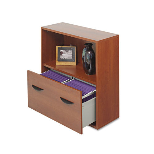 Safco Aprs Modular Storage Shelf with Lower File Drawer SAF9445CY, Cherry (UPC:073555944549)