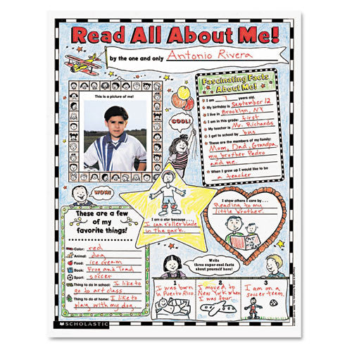 Scholastic Teach Res. Read About Me Poster ; (780439152852)