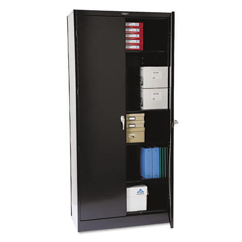 Tennsco Black Deluxe Storage Cabinet TNN1870BK, Black (UPC:044767100108)
