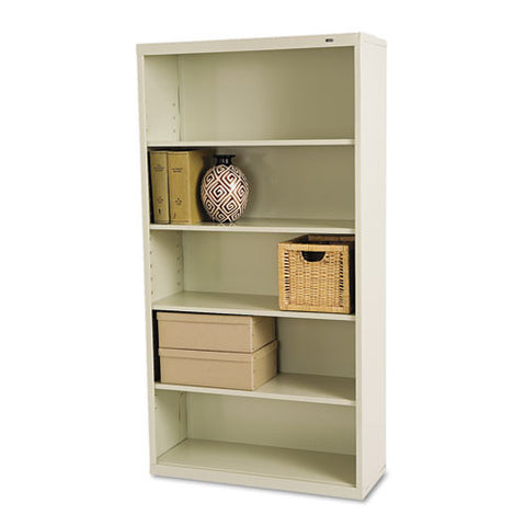 Tennsco Welded Bookcase TNNB66PY, Putty (UPC:447671100729)