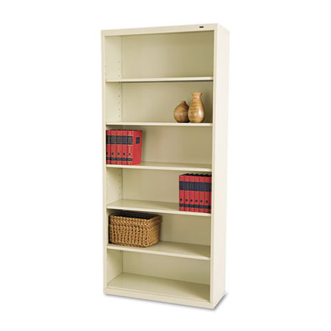 Tennsco Welded Bookcase TNNB78PY, Putty (UPC:447671100897)