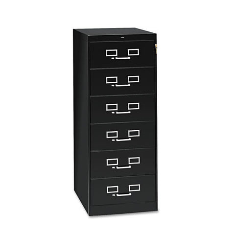 Tennsco Card Cabinet With Lock TNNCF669BK, Black (UPC:447671003709)