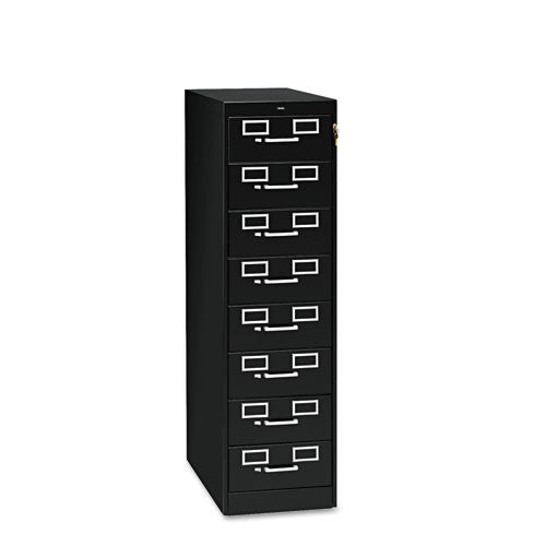 Tennsco Card Cabinet With Lock TNNCF846BK, Black (UPC:447671008681)