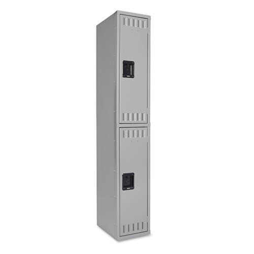 Tennsco Double-Tier Locker TNNDTS121836AMG, Gray (UPC:447671102877)