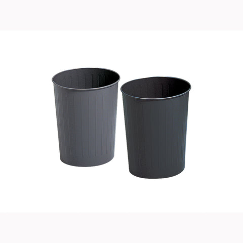 Safco Products Round Wastebasket, 23-1/2 Qt. (Qty. 6) 9604BL(Image 1)