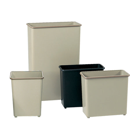 Safco Products Rectangular Wastebasket, 27-1/2 Qt. (Qty. 3) 9616BL(Image 2)