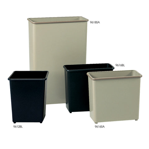 Safco Products Rectangular Wastebasket, 27-1/2 Qt. (Qty. 3) 9616BL(Image 1)